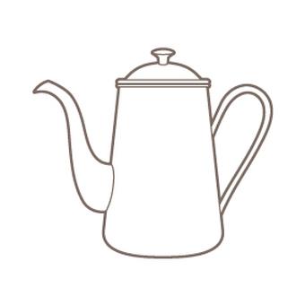 Coffee pot _ white