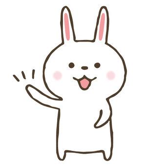 Cute hand drawn rabbit
