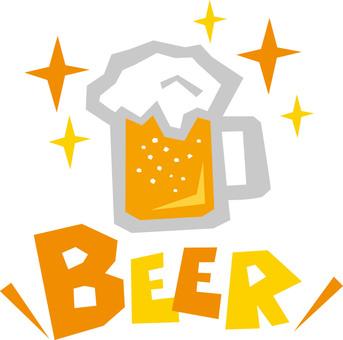 BEER ☆ draft beer English pop logo