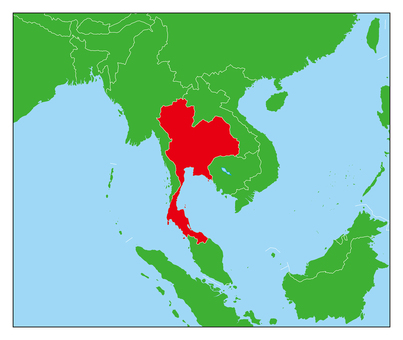 Thailand map-red