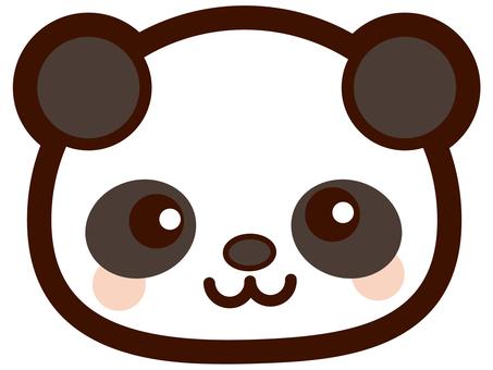 可爱的熊猫的脸