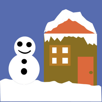 House and snowman