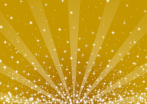 Brilliant radiation of gold