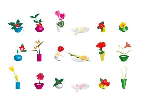 Small flower vase flowers