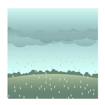 Rain scenery