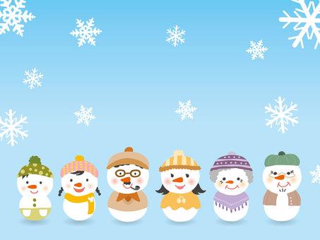雪だるま/家族