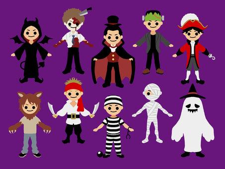 Boy's costumes * purple