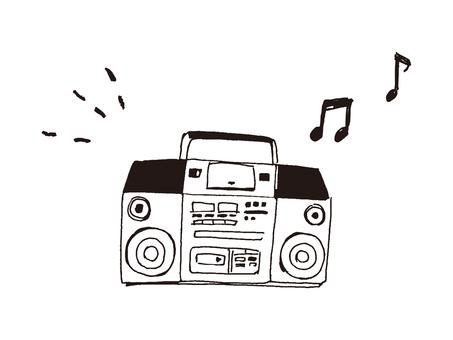 A radio cassette