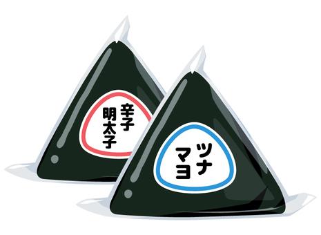 コンビニおにぎり_ツナと明太子