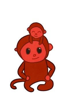 Monkey parent and child