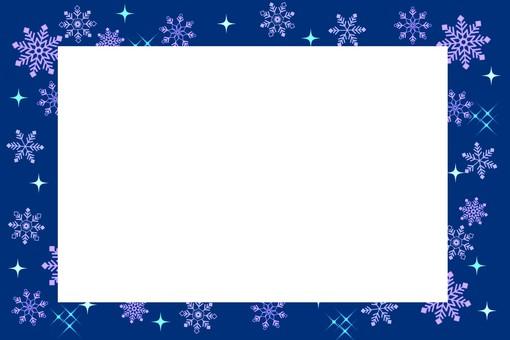 Snow frame blue