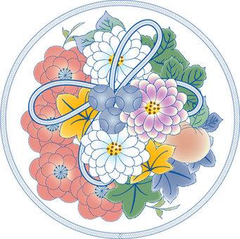 大麗花花卉圖案