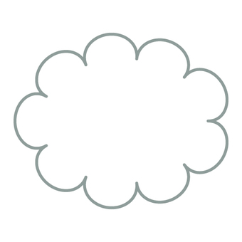 Weather mark (cloudy) Cloud only