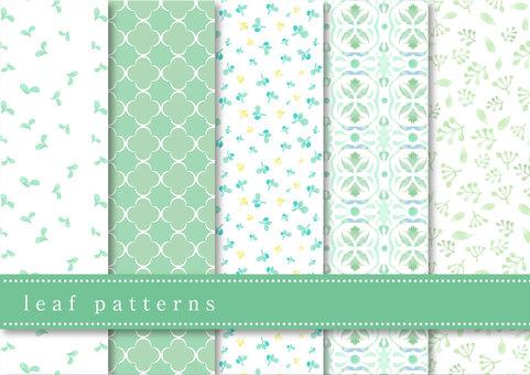 패턴 세트 016 나뭇잎
