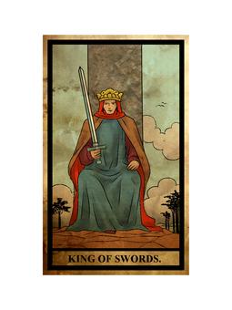 Tarot sword king