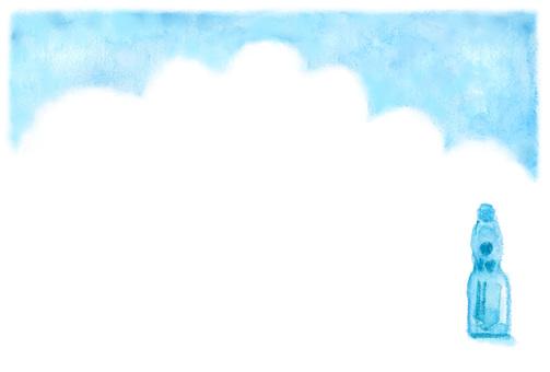 Summer frame of postcard size