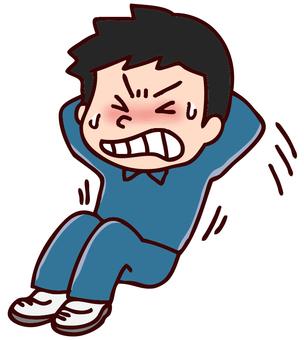 Illustration of abdominal exercise