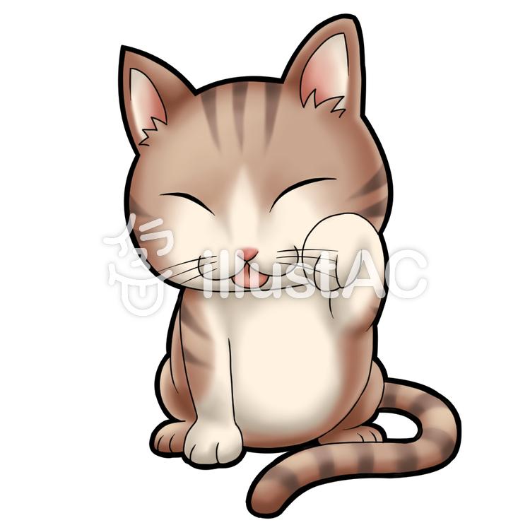 顔を洗う猫イラスト No 1039593 無料イラストなら イラストac