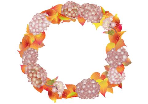 Fall lease _ autumn hydrangea