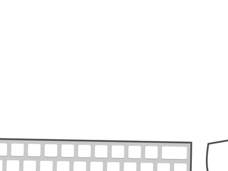 Keyboard and mouse frame