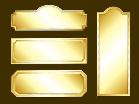 A golden long frame