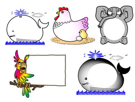 Animal frame (5 kinds)