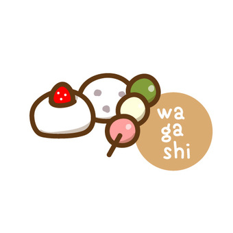Japanese sweets icon illustration