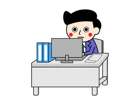Worker working in desk work