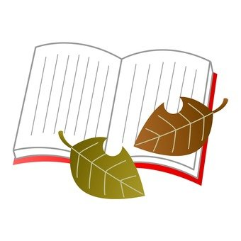 Autumn Festival - Open Book and Leaf