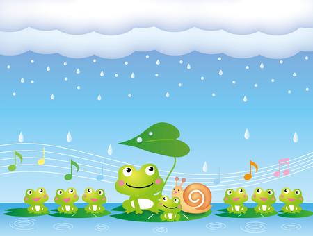 梅雨の季節のかえるの合唱