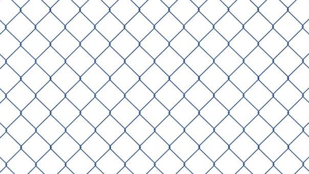 金網 フェンス 青 透過済み 背景