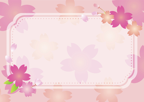 Cherry blossom message card 2