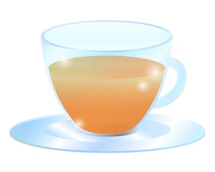 유리 찻잔 / 홍차 / TEA