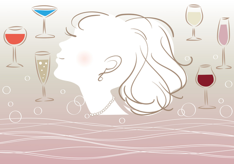Wine and female image