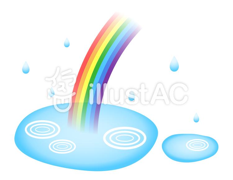 雨と水たまりイラスト No 814835無料イラストならイラストac