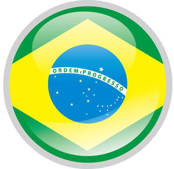 Brazil flag country of south america