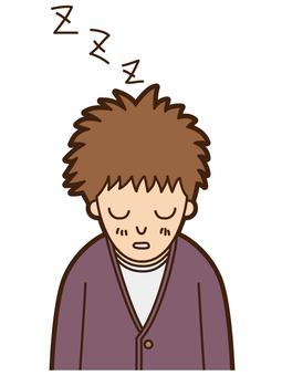 청년 (졸음)