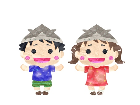 Girl and boy set with headpiece