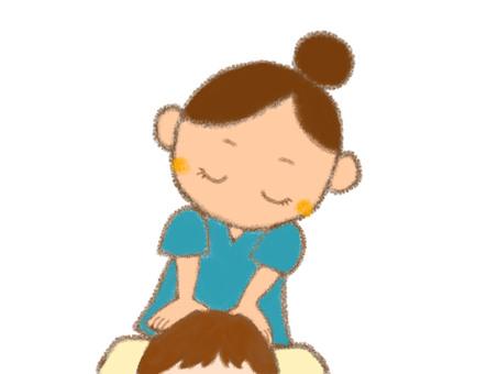 Head massage women