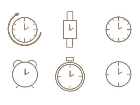 시계 아이콘 세트 간단한