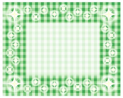 Glitter Gingham Check - Green