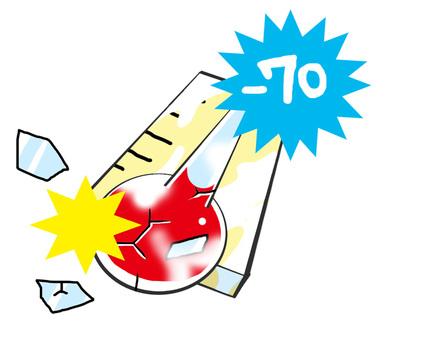 Freezing temperature gauge