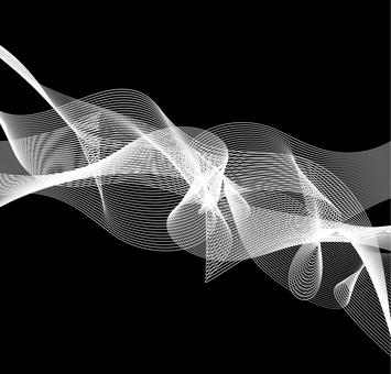 White line wave black background