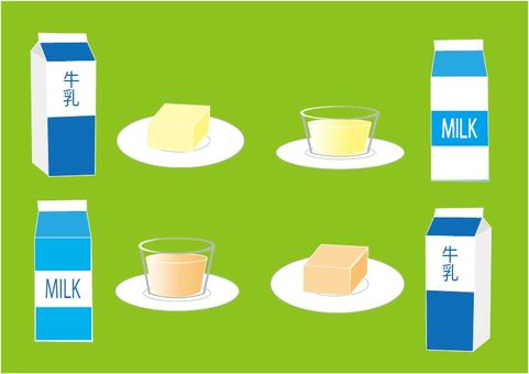 Milk and milk pudding agar set