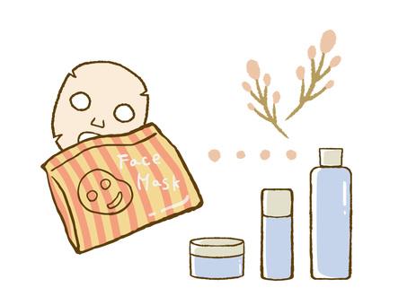 Set of skin care goods