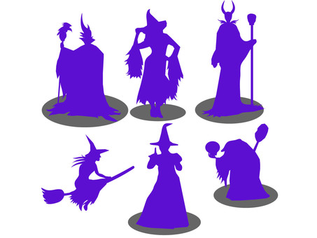 Witch's silhouette 3