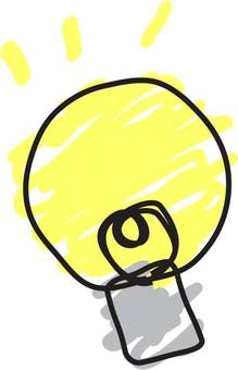 Handwritten wind bulb