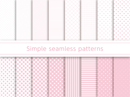 Simple pattern swatch pink