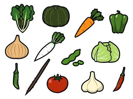 Variety of vegetables assortment 1