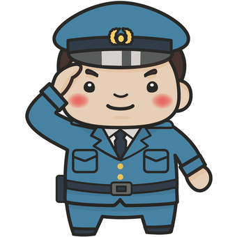 Illustration of policeman (male)